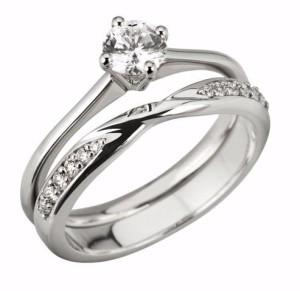 3mm Round Diamond set Shaped Wedding Ring