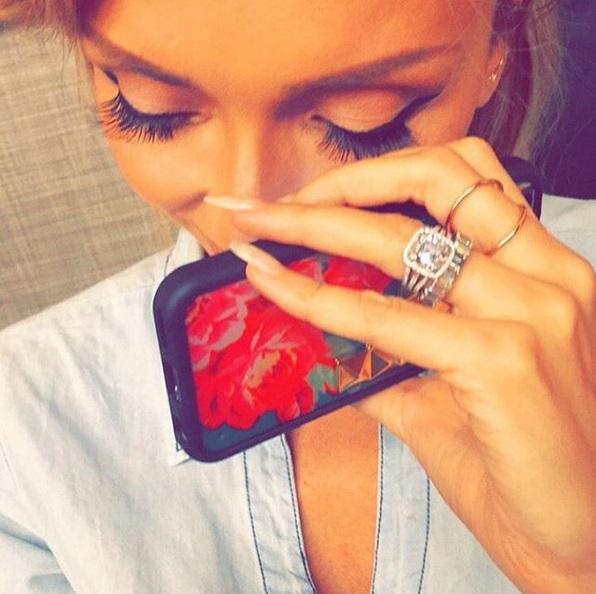 Giuliana Rancic's 4 Carat Cushion Cut Diamond Ring Giuliana Rancic Engagement Ring