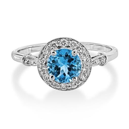 Aqua-diamond-halo
