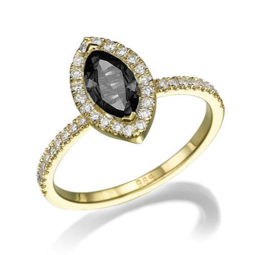 DiamondsMine-Black-Diamond-Marquise-Engagement-Ring-500x500