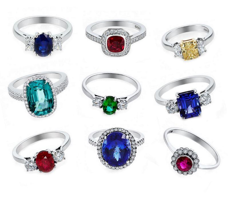 Coloured-Gem-Rings