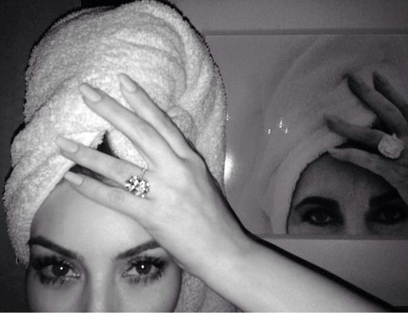 kim-kardashian-elizabeth-taylor-selfie-engagement-ring