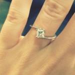 Jessa Duggar's 0.75 Carat Princess Cut Diamond Ring