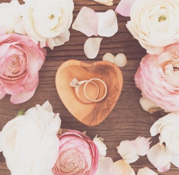 rose gold bridal ring