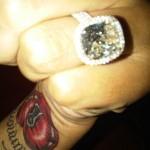 Monica Brown's Platinum 6 Carat Diamond Ring