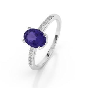 WGold_Tanzanite_Diamond_Ring_1070