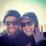 Alison Pill's 2 Carat  Cushion Cut Diamond Ring