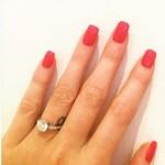 Kaya Scodelario's Platinum 2 Carat Round Diamond Ring