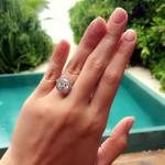 Cristalle Belo Henares' 3 Carat Cushion Cut Diamond Ring