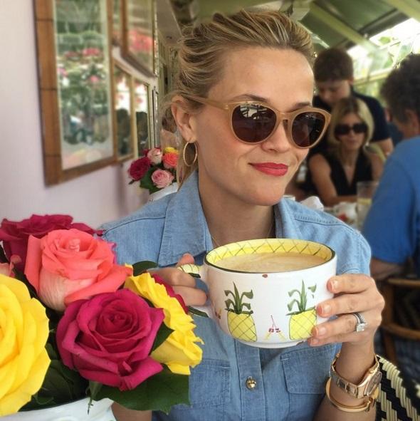 Reese Witherspoon's 4 Carat Ashoka Cut Diamond Ring