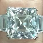 Lydia Hearst's Asscher Cut Diamond Ring
