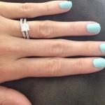 Allie Schwarzwalder's Square Shaped Diamond Ring