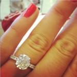 Morgan Beck's Cushion Cut Diamond Ring