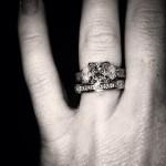 Ashley Monroe's Square Shaped Diamond Ring