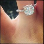 Jaime Lynn Spears' 4 Carat Round Cut Diamond Ring