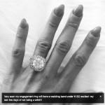 Peaches Geldof's Round Cut Diamond Ring