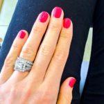 Vogue Williams' Square Shaped Diamond Ring