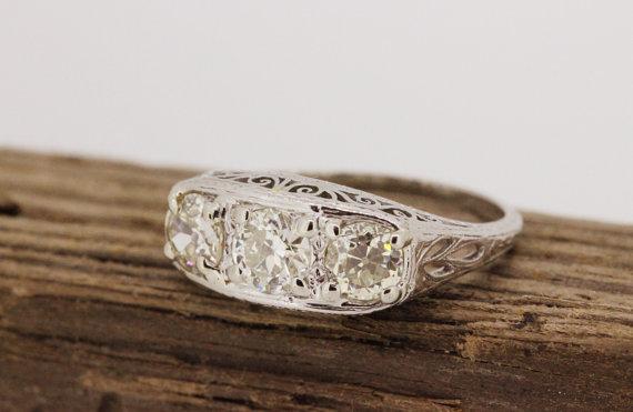 sale-antique-engagement-ring-art-deco-ring-edwardian-ring-platinum-ring-vintage-diamond-wedding-ring-estate-ring-filigree-ring-size-775
