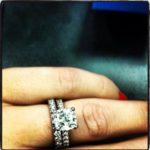Stephanie Anderson's Princess Cut Diamond Ring