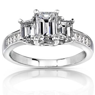 Annello-14k-Gold-1-3-4-ct-TDW-Emerald-cut-Diamond-Three-Stone-Engagement-Ring-H-I-SI1-SI2-P15077926