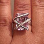 Monifah Carter's Emerald Cut Amethyst Stone Ring