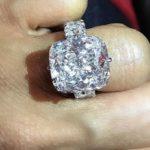 Keyshia Ka'oir's 25 Carat Cushion Cut Diamond Ring