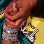 Basetsana Kumalo's Emerald Cut Amethyst Ring