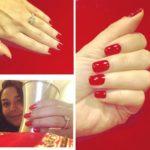 Preity Zinta's Square Shaped Diamond Ring