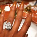 Ashley Nicole Roberts' Pear Shaped Diamond Ring