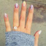 Molly Tarlov's Round Cut Diamond Ring