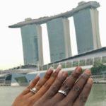 Talitha Govender's Square Shaped Diamond Ring