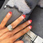 Kate Hawkesby's Princess Cut Diamond Ring