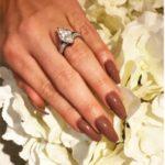 Vicky Pattinson's 3.6 Carat Marquise Shaped Diamond Ring 1