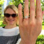 Emilie de Ravin's Cushion Cut Diamond Ring
