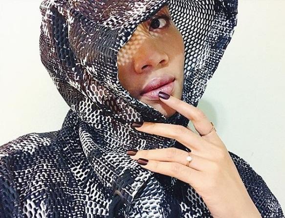 Yunalis Mat Zara'ai's Round Cut Diamond Ring