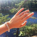 Frida Gustavsson's Round Cut Diamond Ring