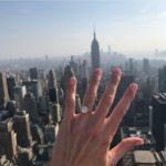 Nicole Kaspar's Round Cut Diamond Ring