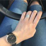 Lauren Diaz's Pear Shaped Diamond Ring