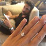 Krystal Nielson's Pear Shaped Diamond Ring