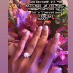 Mica Javier's Round Cut Diamond Ring
